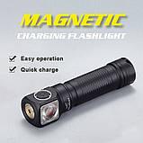 Налобный фонарь SKILHUNT H04 RC + Магнитная зарядка (1200LM, Cree XM-L2 LED, IPX8, Магнит, NW, TIR оптика), фото 4