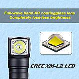 Налобный фонарь SKILHUNT H04 RC + Магнитная зарядка (1200LM, Cree XM-L2 LED, IPX8, Магнит, NW, TIR оптика), фото 5
