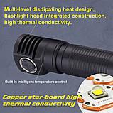 Налобный фонарь SKILHUNT H04 RC + Магнитная зарядка (1200LM, Cree XM-L2 LED, IPX8, Магнит, NW, TIR оптика), фото 8