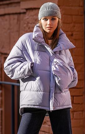 Зимняя куртка Николь без капюшона с сумкой 42-48 р, фото 2