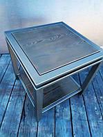 Журнальный столик в стиле Лофт / Кофейный стол Лофт WMS004 500х500х500 мм