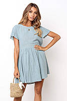 Легкое дышащее платье женское голубое
