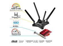 WiFi-адаптер ASUS PCE-AC88 802.11ac, 2.4/5 ГГц, AC1900,  PCI Express
