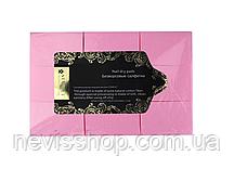 Серветки безворсові Starlet Professional, 6х4 см, 800 шт., колір рожевий