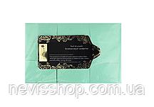 Серветки безворсові Starlet Professional, 6х4 см, 800 шт., колір блакитний