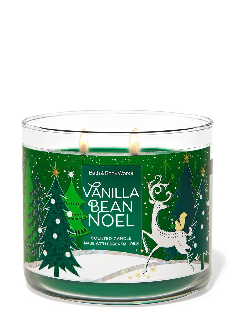 Свеча ароматизированная Bath and Body Works Vanilla Bean Noel Scented Candle