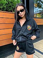 Модный женский костюм спортивный шорты и кофта с капюшоном MICKEY