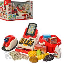 Кассовый аппарат 668-51 сканер, звук, свет, корзинка с продуктами, деньги