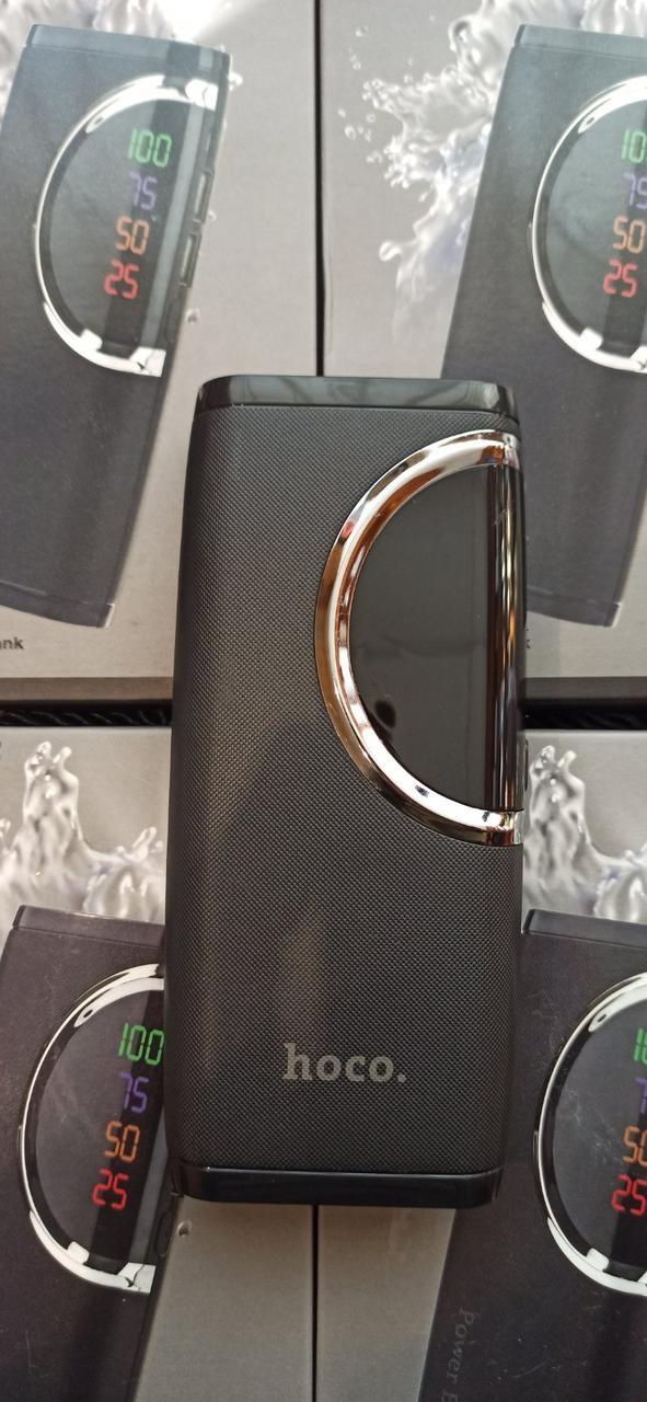 Power Bank, внешний аккумулятор Hoco PB-51 6000mAh портативная батарея 2 USB выхода фонарик, дисплей