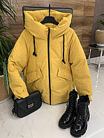 Жовта куртка - Жіноча одяг оптом | Одяг за дропшиппингу