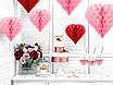 """Декорация на День Влюбленных """"Красное гофро сердце"""" (30 см.), фото 3"""