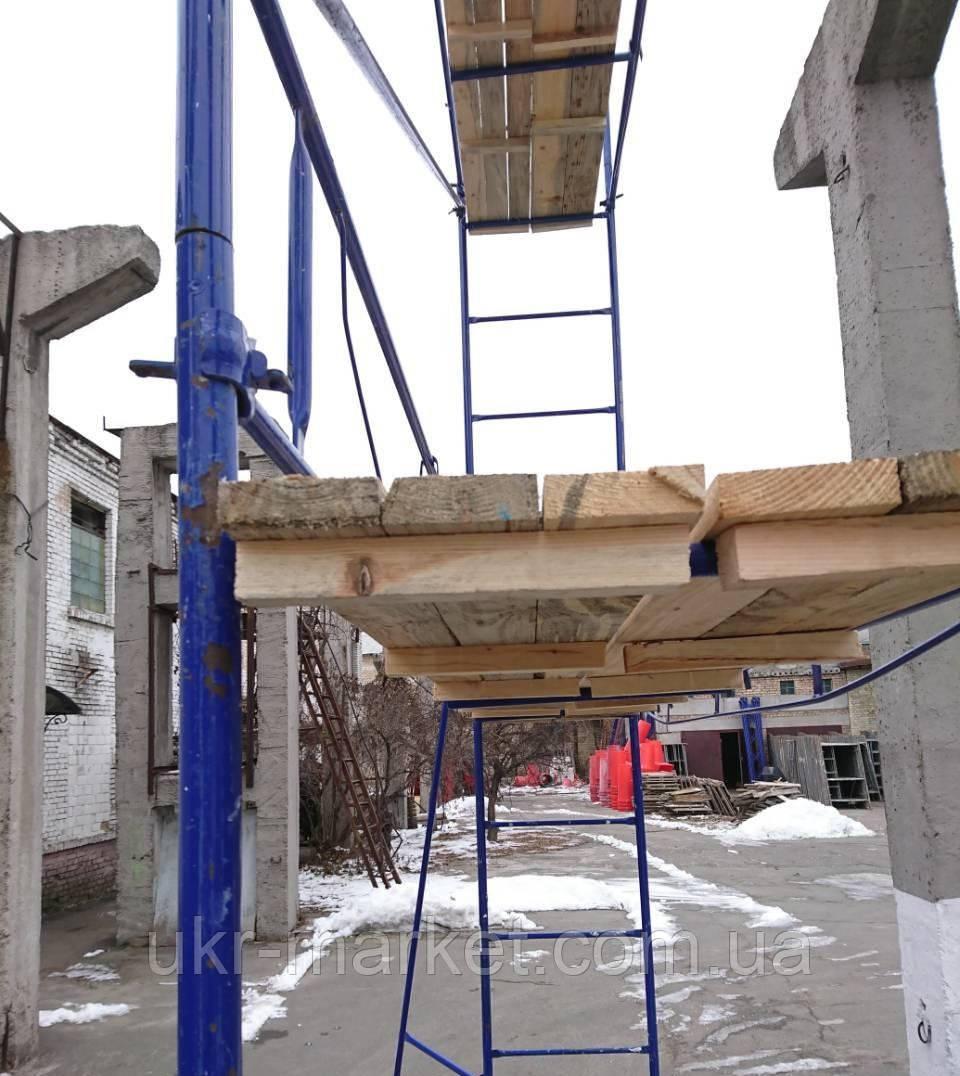 Будівельні ліси клино-хомутові комплектація 12.5 х 7.0 (м)