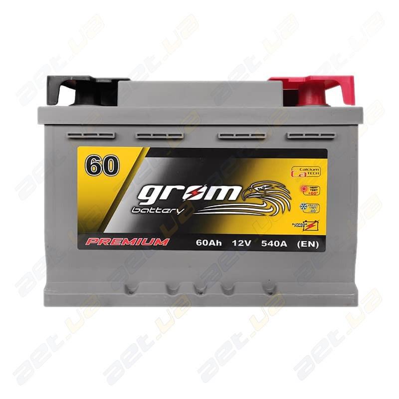 Аккумулятор Grom Battery 60Ah R+ 540A (EN) низкобазовый