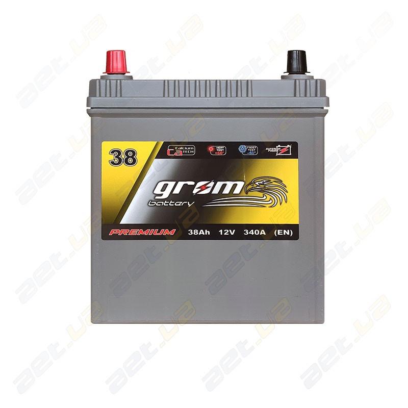 Аккумулятор Grom Battery 38Ah 340A JL+ (EN)