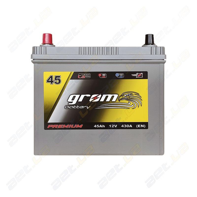 Аккумулятор Grom Battery 45Ah 430A JL+ (EN) тонкая клемма