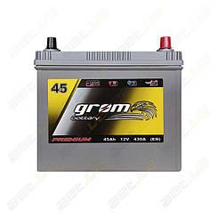 Аккумулятор Grom Battery 45Ah 430A JR+ (EN) тонкая клемма