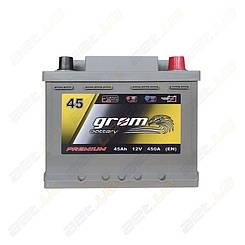 Аккумулятор автомобильный Grom Battery 45Ah R+ 450A (EN) низкобазовый