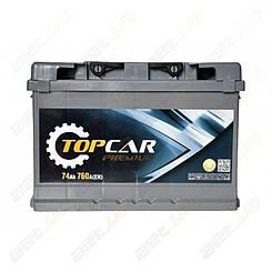 Автомобильный аккумулятор TOP CAR Premium 74Ah R+ 760A