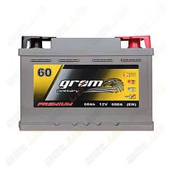 Аккумулятор автомобильній Grom Battery 60Ah R+ 600A (EN) низкобазовый