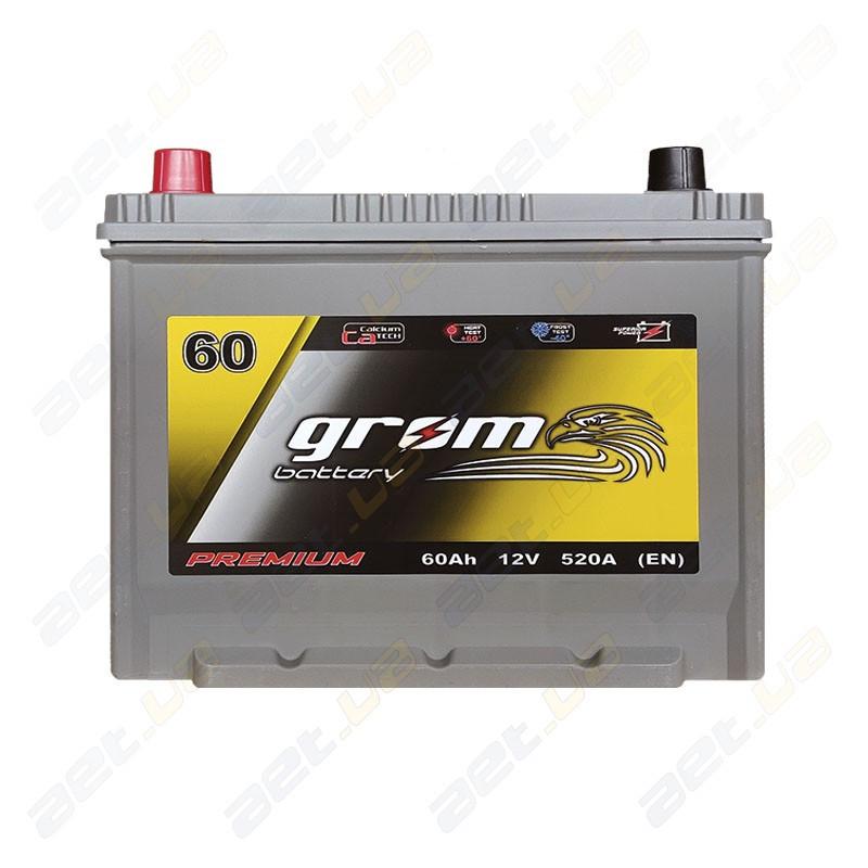 Аккумулятор Grom Battery 60Ah 520A JL+ (EN)
