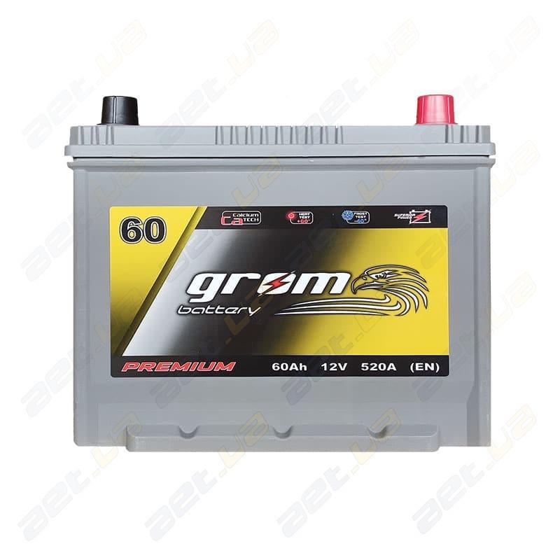 Аккумулятор Grom Battery 60Ah JR+ 520A (EN)