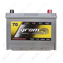 Аккумулятор Grom Battery 70Ah 600A JR+ (EN)