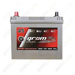 Аккумулятор Grom Battery 45Ah 460A JL+ (EN) EFB тонкие клеммы
