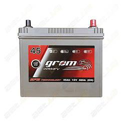 Аккумулятор Grom Battery 45Ah 460A JR+ (EN) EFB тонкие клеммы