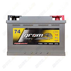 Аккумулятор Grom Battery 74Ah R+ 680A (EN) низкобазовый