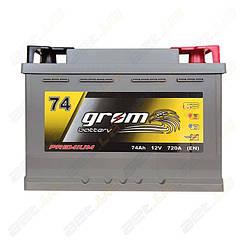 Аккумулятор Grom Battery 74Ah R+ 720A (EN)