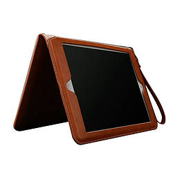 """Кожаный чехол для iPad 8 поколения 10.2"""" 2020 оранжевый"""