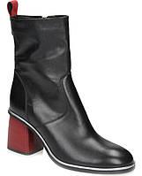 Кожаные женские ботильоны закрытые туфли ботиночки 193027 38