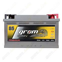 Аккумулятор автомобильный Grom Battery 85Ah R+ 780A (EN) низкобазовый