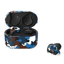 Беспроводные Bluetooth наушники Sabbat X12 Ultra Caribbean c поддержкой aptX (Черно-синий), фото 2