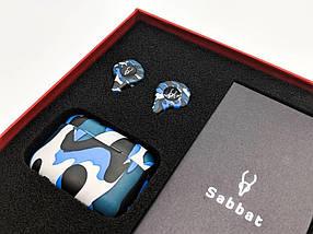 Беспроводные Bluetooth наушники Sabbat X12 Ultra Caribbean c поддержкой aptX (Черно-синий), фото 3
