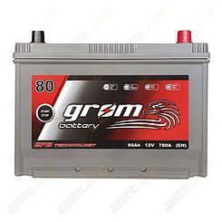 Аккумулятор Grom Battery 80Ah 780A JR+ (EN) EFB
