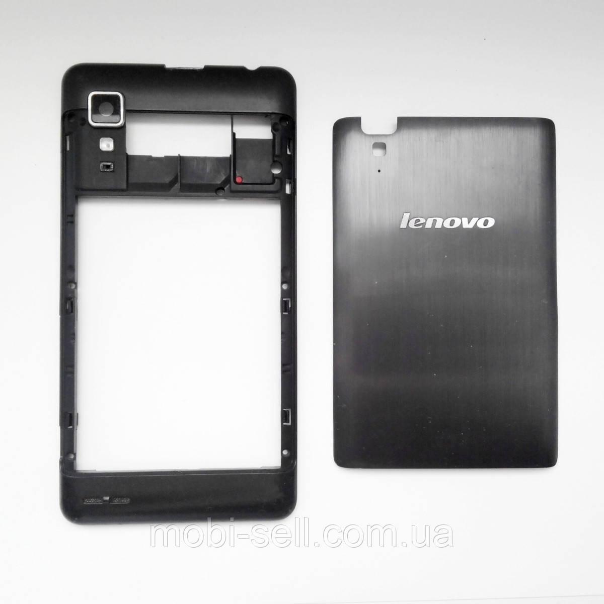 Lenovo P780 средняя часть корпуса + задняя крышка в сборе (Б/У, оригинал, разборка)
