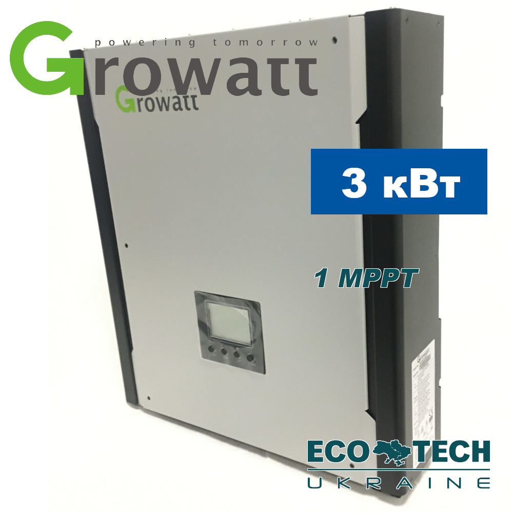 GROWATT 3000 HY гибридный солнечный инвертор (3 кВт; 1 фаза; 1 MPPT)