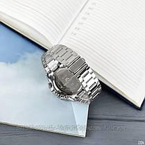 Часы оригинальные мужские наручные кварцевые Megalith 8232M Silver-Black-Whit / стальной ремешок, фото 3