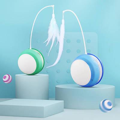 Умная USB игрушка для кошек с подсветкой и звуками птиц