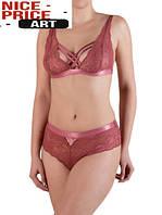 Стильный женский кружевной комплект с браллетом,карамель  75В,80В 85В, фото 1