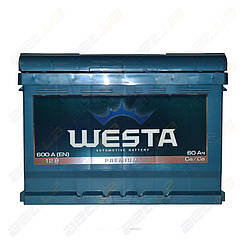Автомобильный аккумулятор WESTA 60Ah L+ 600A (низкобазовый)