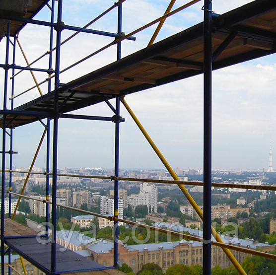 Будівельні риштування клино-хомутові комплектація 15.0 х 14.0 (м)