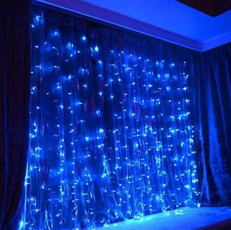 Гирлянда Xmas Водопад 7274 360LED В-3, 3x2 м, синий свет, фото 2