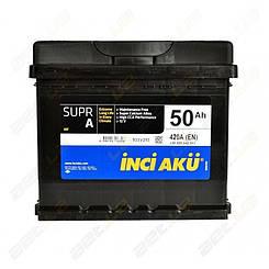 Аккумулятор автомобильный INCI-AKU Supr A 50Ah R+ 420A (низкобазовый)
