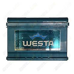 Автомобильный аккумулятор WESTA 74Ah R+ 720A