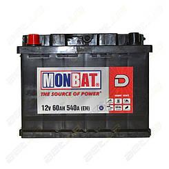 Аккумулятор Monbat D 60Ah L+ 540A