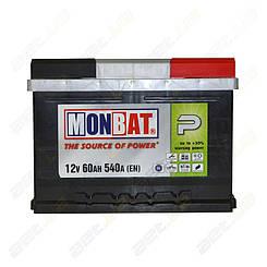 Аккумулятор Monbat P 60Ah L+ 540A