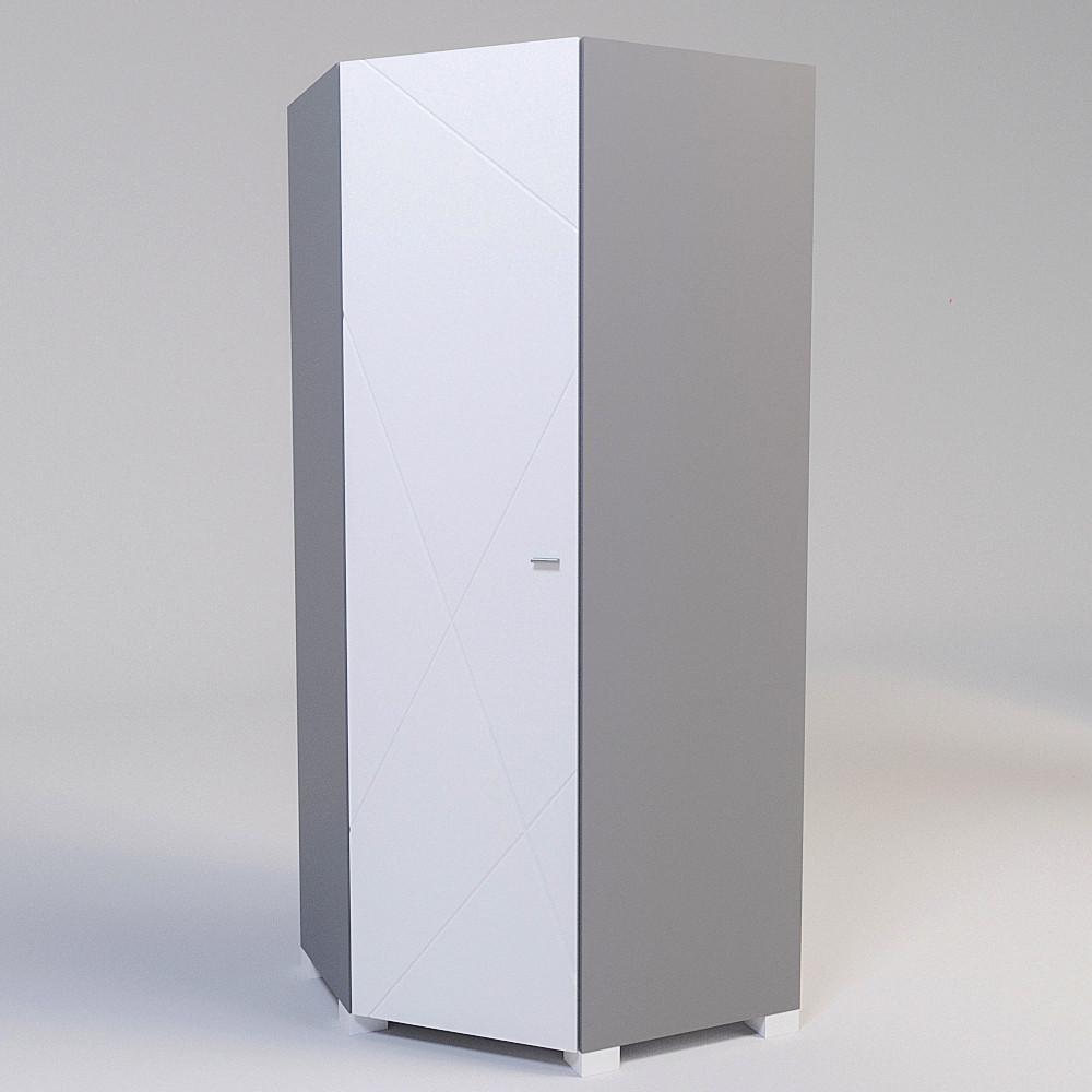 Шкаф угловой Х-Скаут Х-23 белый мат