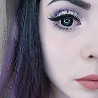 Чёрные кукольные контактные линзы для глаз. Увеличивают глаза. Бокс в подарок!